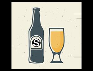 Birra in bottiglia e bicchiere